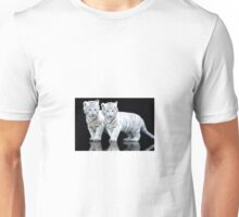 white tiger cubs Unisex T-Shirt