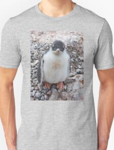 """Gentoo Penguin Chick ~ """"My life's goal....to grow into my feet!"""" Unisex T-Shirt"""