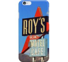 Route 66 - Roy's of Amboy, California iPhone Case/Skin