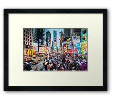 Times Square Tourists (eh) Framed Print