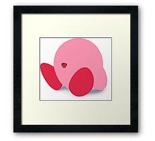 Kirby Smash 4 Design Framed Print