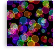 Colorful Rainbow Bokeh Bubbles Canvas Print