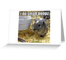 lolz Poopz Hamster Greeting Card