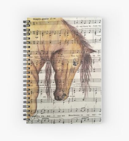 Bowing Horse Head Spiral Notebook