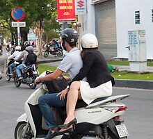 Lovers Commute Vietnam by Martin Berry Photography