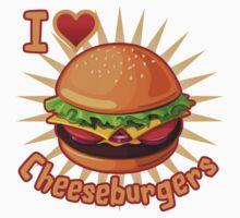 I Heart Cheeseburgers Kids Clothes