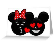Micky & Minnie Emoji - Kiss  Greeting Card