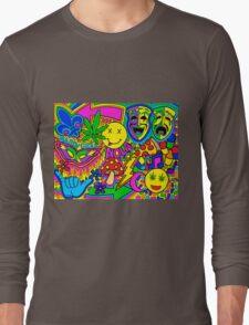 Mardi Gras Collage Long Sleeve T-Shirt