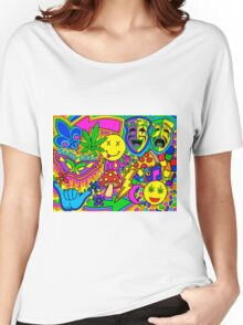 Mardi Gras Collage Women's Relaxed Fit T-Shirt