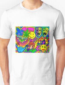 Mardi Gras Collage Unisex T-Shirt