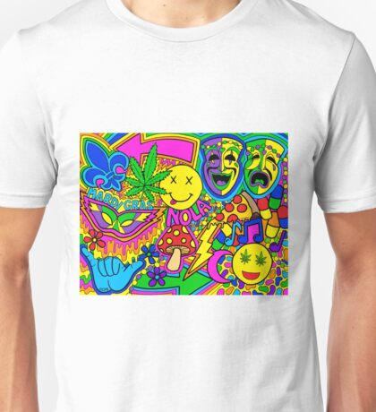 Mardi Gras Collage Unisex T-Shirt