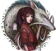 Haku and Chihiro by Chaosrings