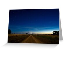 Country Road by Moonlight. Greeting Card