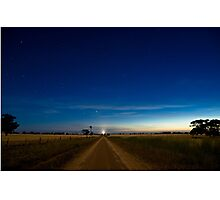 Country Road by Moonlight. Photographic Print