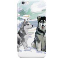 Alaskan Malamutes iPhone Case/Skin