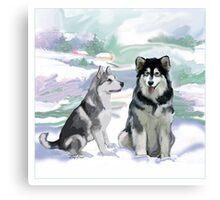 Alaskan Malamutes Canvas Print