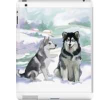 Alaskan Malamutes iPad Case/Skin