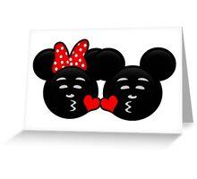 Micky & Minnie Emoji - Sweet Kiss  Greeting Card