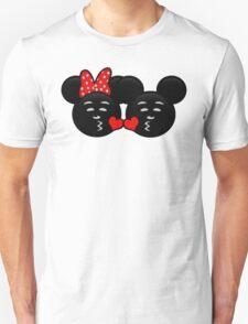 Micky & Minnie Emoji - Sweet Kiss  T-Shirt
