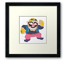 Simplistic Wario Super Smash Bros  Framed Print