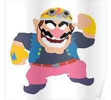 Simplistic Wario Super Smash Bros  Poster