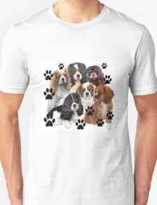 Cavalier Spaniels Grouping Unisex T-Shirt