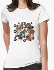 Cavalier Spaniels Grouping Womens Fitted T-Shirt