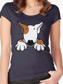 I Want Something Bull Terrier Brown & White Women's Fitted Scoop T-Shirt