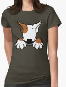 I Want Something Bull Terrier Brown & White Womens Fitted T-Shirt