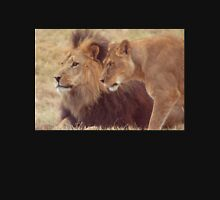 African Male Lion with Lioness Unisex T-Shirt