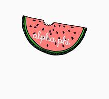 Alpha Phi Cursive Watermelon Unisex T-Shirt