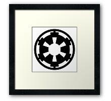 Galactic Empire (black) Framed Print