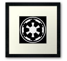 Galactic Empire (white) Framed Print