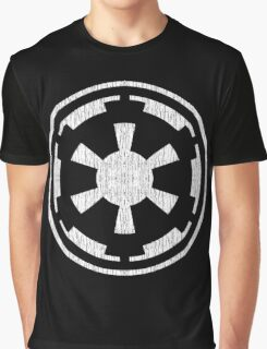 Galactic Empire (white, distressed) Graphic T-Shirt