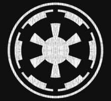 Galactic Empire (white, distressed) by ianscott76