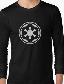 Galactic Empire (white, distressed) Long Sleeve T-Shirt