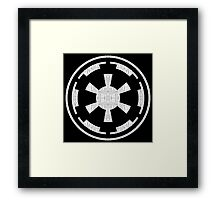 Galactic Empire (white, distressed) Framed Print