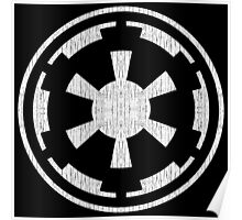 Galactic Empire (white, distressed) Poster