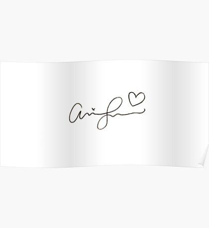 Ariana Grande Signature Overlay Poster