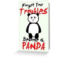 Motivational Panda Greeting Card
