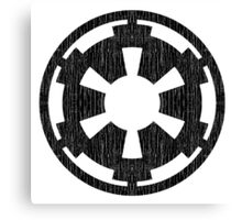Galactic Empire (black, distressed) Canvas Print