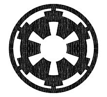 Galactic Empire (black, distressed) Photographic Print