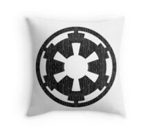 Galactic Empire (black, distressed) Throw Pillow