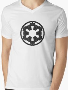 Galactic Empire (black, distressed) Mens V-Neck T-Shirt