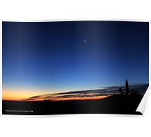 Morning By The Lighthouse | Montauk Point, New York Poster