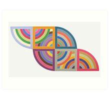 Frank Stella Protractors Art Print