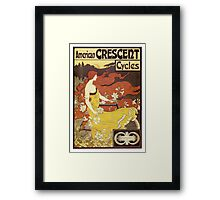 Vintage poster - American Crescent Cycles Framed Print