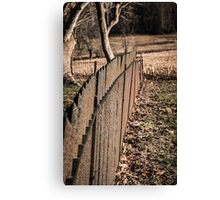 Old Wrought Iron Fence Canvas Print
