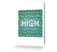 HIGH TYPO! Cannabis / Hemp / 420 / Marijuana  - Pattern Greeting Card