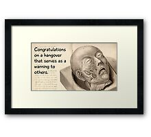 Your hangover as a warning to others Framed Print